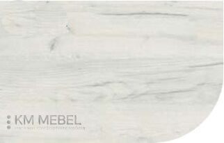 Столешница со скругленным углом - цвет «дуб крафт белый»