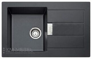 Мойка FRANKE SID 611-78 пластик черный  (оборотная)+вентиль с сифоном (шт.)